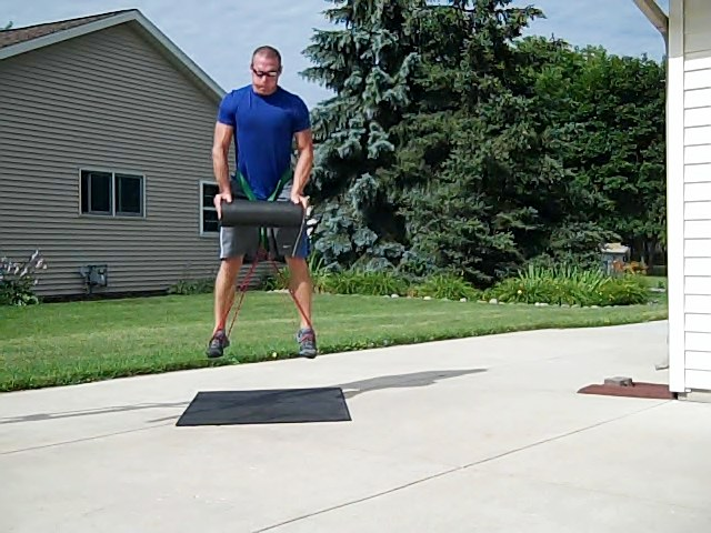 Band Burpee exercises