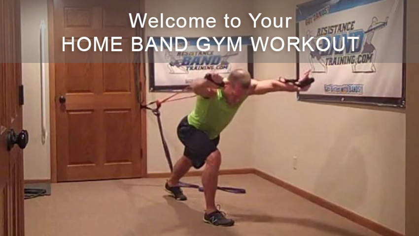 Home Band Gym Shoulder-Cardio Workout