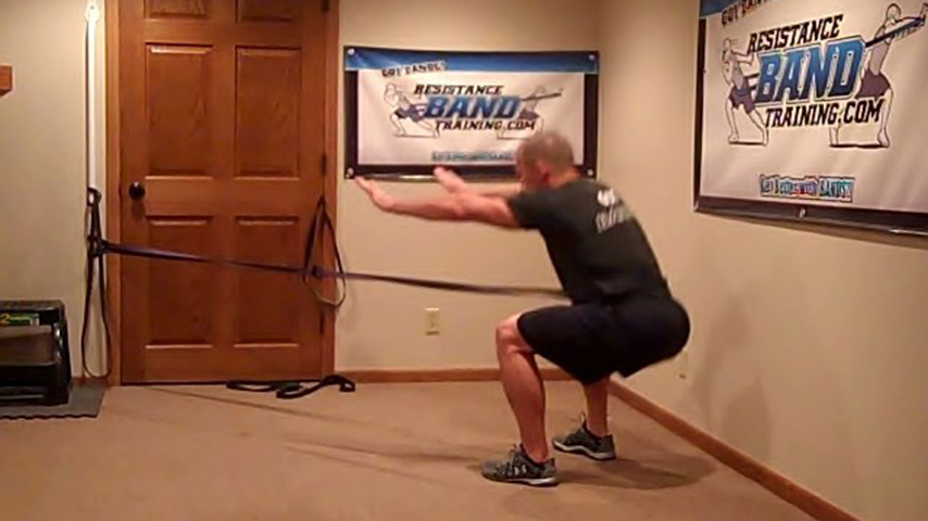 Band Assisted Lunge Workout